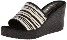 Sbicca Women's Olmsted Wedge Sandal,Black,6 B US. Double padded sole. Made in california. Flexible sole. Suede sock bed.