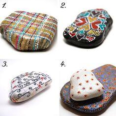 Designs on Painted Rocks