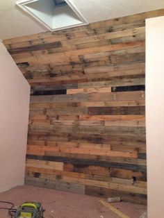Accent wall with pallet board. Does take some wood working skills and tool, but over all came out perfect!!!!