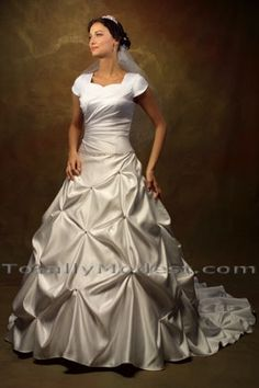 Wedding Gown Collection 3 Lindy Delivery 13 to 15 weeks, rush cut 10 to 12 weeks approx. Email to check stock TOTALLY MODEST # 1 choice for Modest Wedding Dresses with sleeves, Bridesmaids and Prom