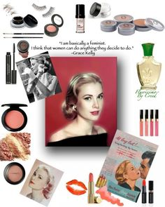 Grace Kelly hair and makeup tutorial
