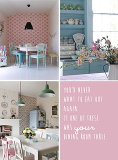 Selina Lake's Pretty Pastel Style book - Dishes Undressed: Pretty inspired by pastel kitchens