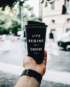 life begins with coffee. #black