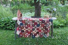 Grandmothers Flowergarden gemaakt door  Atelier Bep