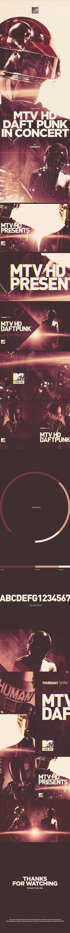 motion graphics/ storyboards/ styleframes | MTV HD | DAFT PUNK