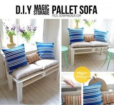 DIY Pallet Sofa Plans And Photos