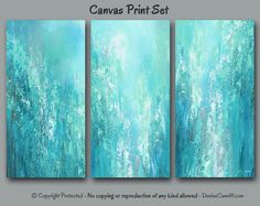 abstract wall art canvas print set multi panel 3 piece extra large office decor