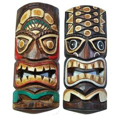 Wandmaske Tiki 100 cm Masque Hawaii Tiki holzmaske wooden mask