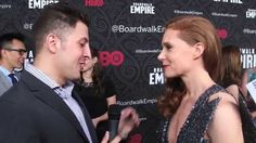 "Christiane Seidel chats with #InTheLab host Arthur Kade at the premiere of the final season of HBO's ""Boardwalk Empire""."
