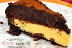 Bolo de chocolate trufado de maracujá