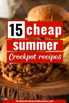 You'll love these 15 cheap and easy summer Crockpot recipes! These delicious Crockpot recipes are perfect for gatherings with family and friends! Give these awesome, cheap summer slow cooker recipes a try! Some of the best frugal summer Crockpot recipes! #slowcookerrecipes #recipes #slowcooker #slowcookerchicken #summerrecipes #cheaprecipes #dinnerrecipes Cheap Easy Meals, Easy Summer Meals, Cheap Dinners, Easy Family Meals, Frugal Meals, Budget Meals, Summer Recipes, Cheap Food, Cheap Recipes