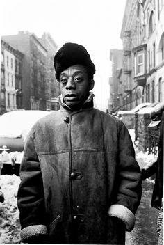 James Baldwin by American documentary photographer Steve Schapiro
