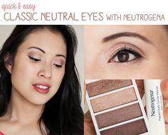 http://cuteandlittle.com | petite fashion blog | drugstore makeup tutorial | classic neutral eyes | neutrogena cocoa mauve eyeshadow palette, neutrogena rapid dark circle eye cream | #newneutrogena
