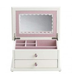 Secret Princess Jewelry Box for girls, complete with a covered compartment in the drawer to hide their special treasures!