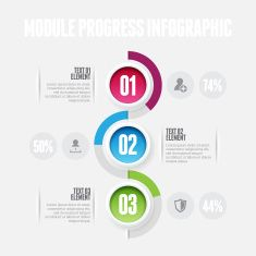 Module Progress Infographic vector art illustration