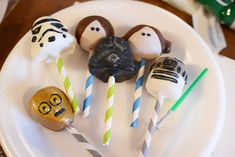 Star Wars Cake Pops · Edible Crafts | CraftGossip.com.......... My boss has requested Star Wars Cake Pops, so I guess I'm going to learn how to make these