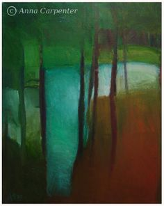 "Anna CARPENTER ""Lake"" oil on canvas"