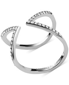 Michael Kors Open Arrow Clear Pave Ring