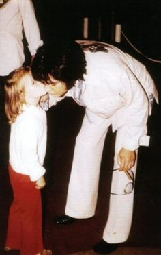 Lisa giving Daddy a kiss before the show.