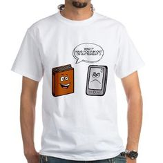 Book vs eBook T-Shirt