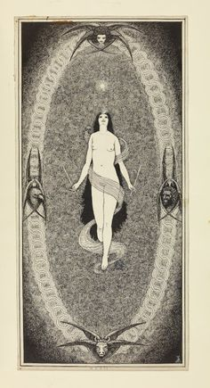 Designs for a set of tarot images commissioned by A.E. Waite 1917-1923 Album of the Great Symbols of the Paths - The Cabinet of the Solar Plexus