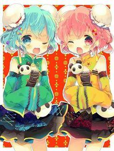 Happy birthday Dorothy and Leona Cute Chibi, Bff Girls, Cute Art, Anime Songs, Anime Siblings, Cartoon, Anime Characters, Kawaii Art, Anime Chibi