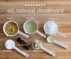 Homemade All Natural Deodorant Recipe