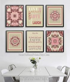 Rustic Wall Art Set of 6 Prints Farmhouse Living Room Decor | Etsy