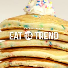 Who doesn't want to eat Funfetti cake for breakfast, right? Well, now you can with these incredibly colorful and tasty pancakes (made from Funfetti cake batter) that are perfect for any kid — or kid at heart.