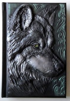 Wolf journal polymer clay journal fantasy 98 blank by ClaymanPL