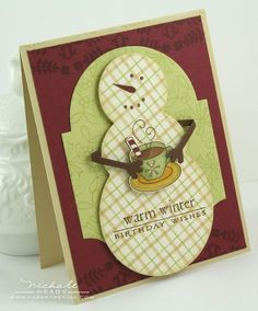 Snowman card by Nichole Heady for Papertrey Ink (October 2011).
