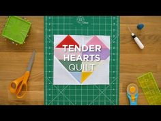 "Click here to watch the full tutorial: http://bit.ly/TenderHeartsQS_YT Use this quick tutorial to create an adorable heart quilt using 2.5"" Strips and some background yardage. Here at Missouri Star Qu"