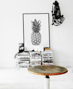 Pineapple Poster, Fashion wall Art, Fashion Poster,  Fashion Print, Pineapple, Pineapple Print, Wall Art, Printable Poster, Print by CHICxBOUTIQ on Etsy https://www.etsy.com/listing/263157129/pineapple-poster-fashion-wall-art