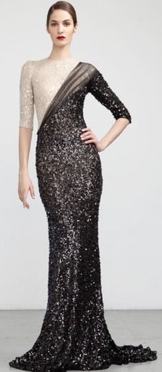 Gorgeous Abed Mahfouz black and white gown
