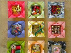 Origami heart-petal box study