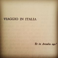Goethe- Viaggio in Italia