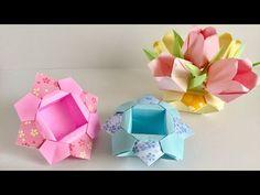 【折り紙】キューブボックス Origami Cube box - YouTube