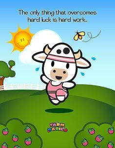 Farm Babies / #kawaii #cute #love #quotes #illustration #baby #farm #animals #cartoon #cow #workout