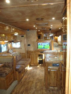 TONS of storage and space in this Merhow Horse Trailer with an amazing Sierra Interiors conversion. Check out www.ridgetrailers.com to find the trailer you've been dreaming about.