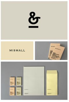 Mi+Mall Brand identity, Graphic design