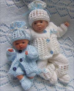 Dolls Knitting Pattern - Download PDF Pattern Reborn Dolls - Dolls Clothes for…
