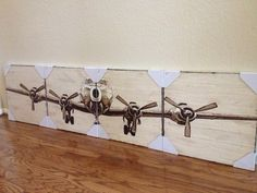 """Pottery Barn Planked Airplane Panel 96""""w x 24""""H Distressed Wood 4 Panel Wall Art   eBay"""