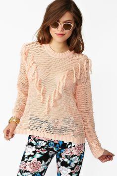Fringed Knit