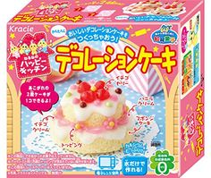 Cake Decoration Kit Popin' Cookin' DIY candy Kracie DIY set for making & decorating mini cakes, with 2 different cake molds, sugar icing, sprinkles and gummy candy decoration, flavour: vanilla and strawberry by Kracie, Import from Japan, edible!, for this set you also need a microwave oven Popin' Cookin' is a series of edible DIY candy in funny shapes, that you can easily make yourself by adding water to the ingredients of the package or by shaping the material included