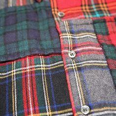 Wool tartan patchwork