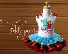 Daniel Tiger Birthday Tutu Collection Aqua red and by TicklePants, $63.99