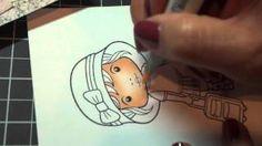 Copic Coloring Skin Tutorial & La La Land Crafts Inspiration Friday card, via YouTube.