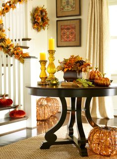 The Art of Autumn by Pier 1 featuring Black & Brown Marchella Dining Table