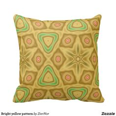 Bright yellow pattern pillows