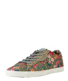 fba49d1f4 O Neill Babelini Low Top AOP Metal Grey Roses Women s Trainers